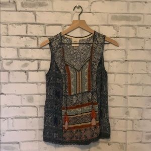 Knox Rose Boho Sheer tank